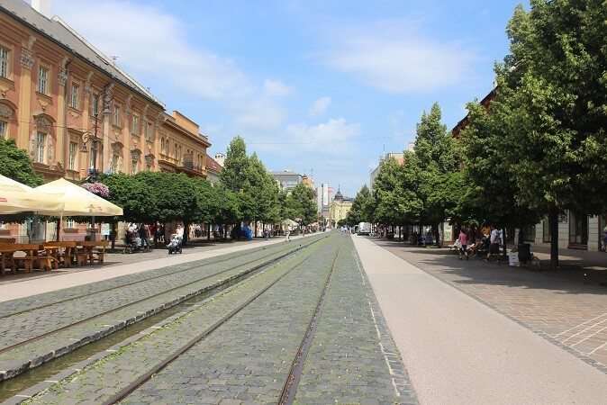water canal where a river was in Kosice