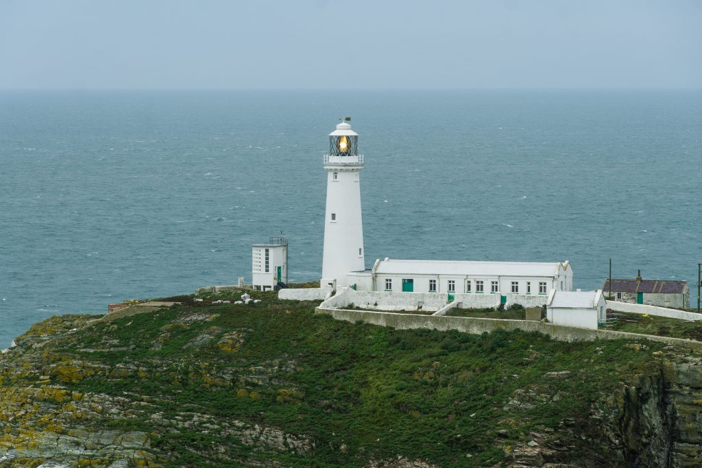 Holy Head Lighthouse, roadtrip Wales.