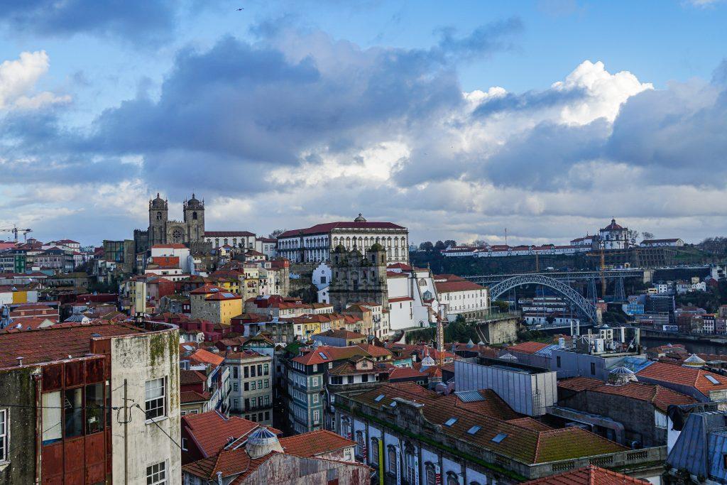 Uitzicht wandeling door Porto