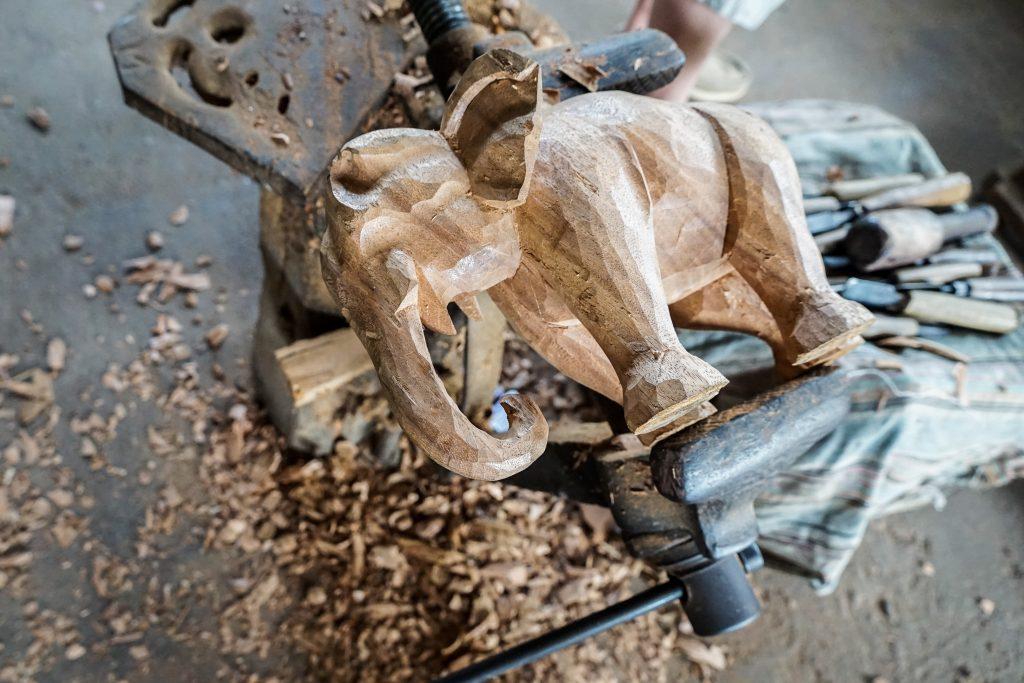 Wood carving, polonnaruwa, Sri Lanka