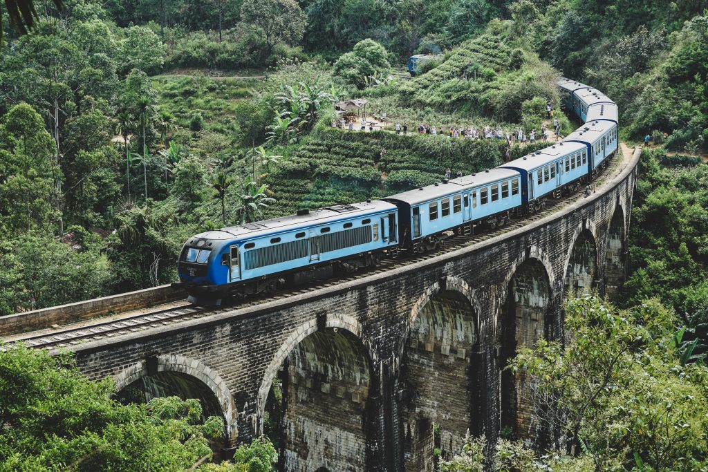 Ella trein Nine arches Bridge Sri Lanka