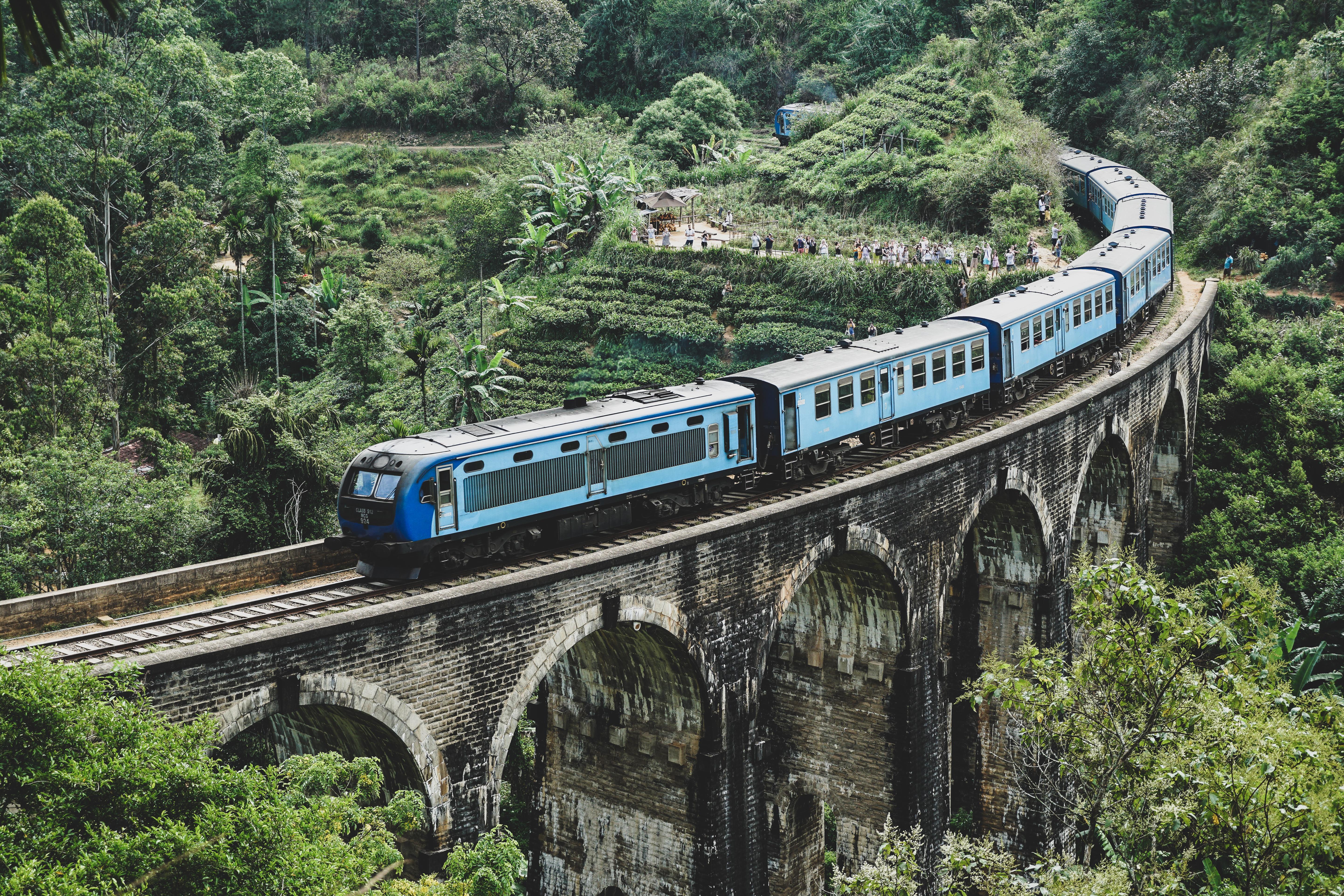 Ella trein Nine arches Bridge Sri Lanka