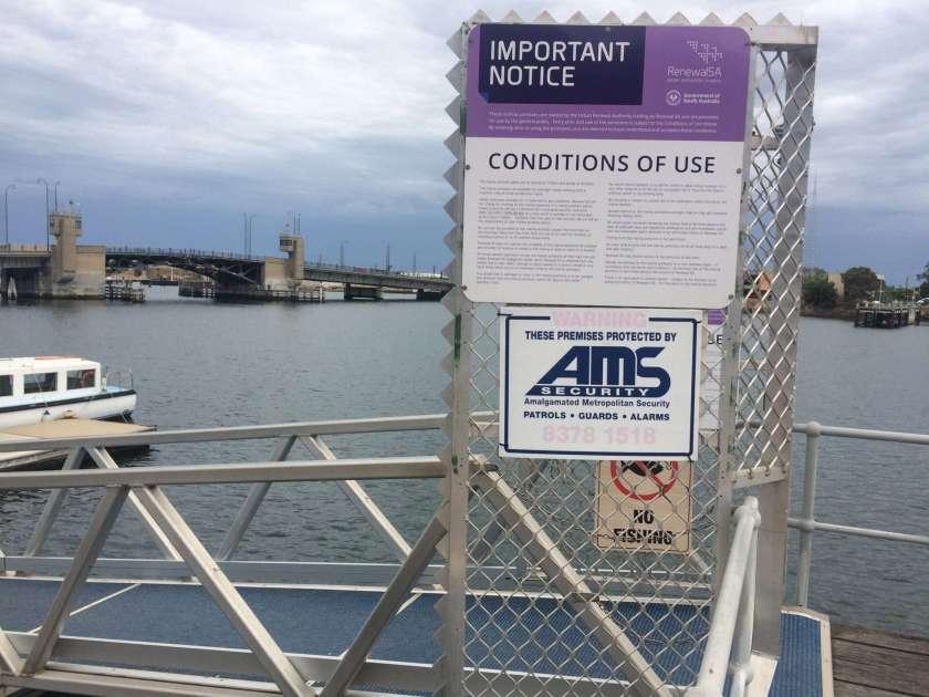 Public Marina Pontoon Information Sign Port Adelaide
