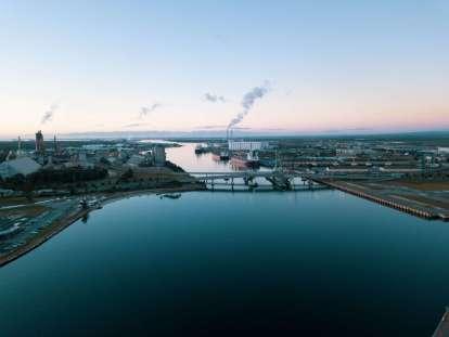 Overlooking Tom Diver Derrick Bridge, Port Adelaide