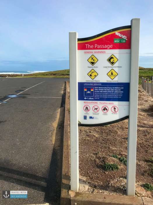 The Passage sign at Port Fairy