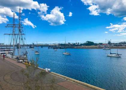 Boats arriving for Port Adelaide BoatFest 2018