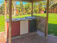Big4 West Beach Holiday Park outdoor BBQ area