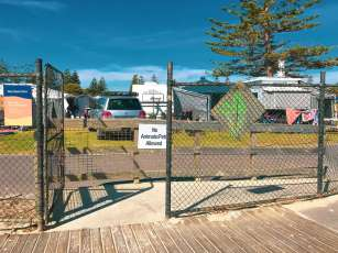 West Beach access from Big4 West Beach Holiday Park