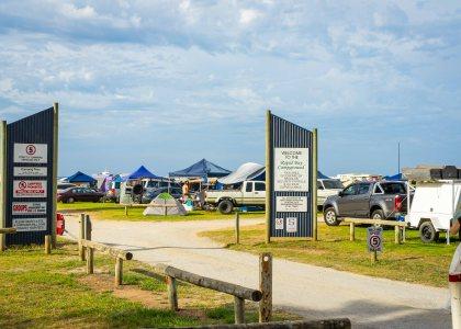 Rapid Bay Campground entrance