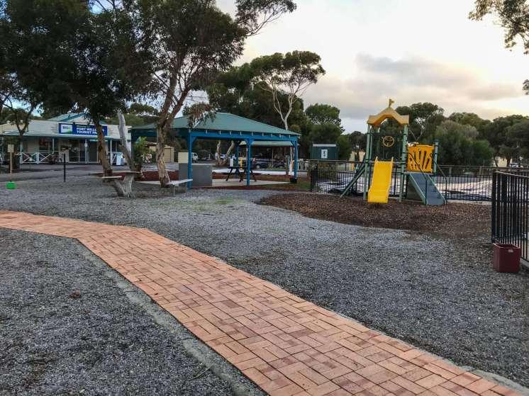 Outdoor play area at Big4 Port Willunga Tourist Park