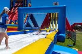 Big Wedgie Inflatable Water Slide Adelaide, West Beach.