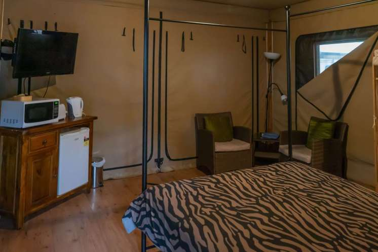 Inside Belair Holiday Park Glamping Tent