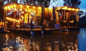 Glamping on Murray River with The Cube