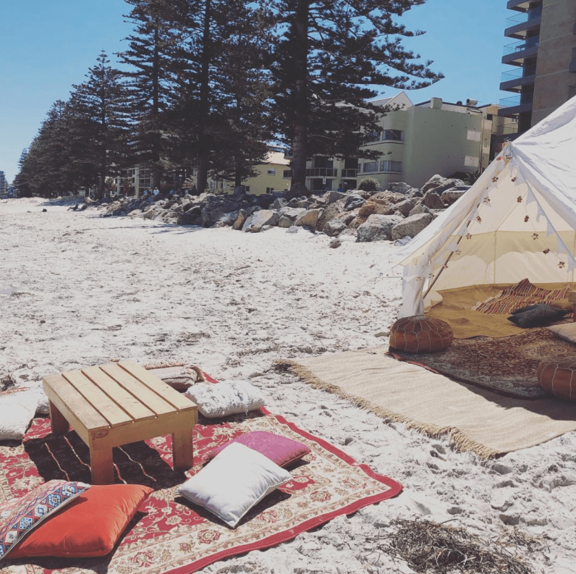Glamping tent hire Adelaide