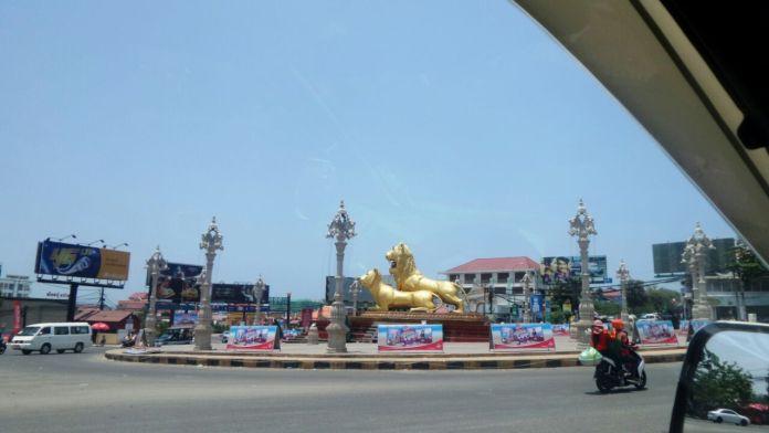 Golden Lions Roundabout, Sihanoukville