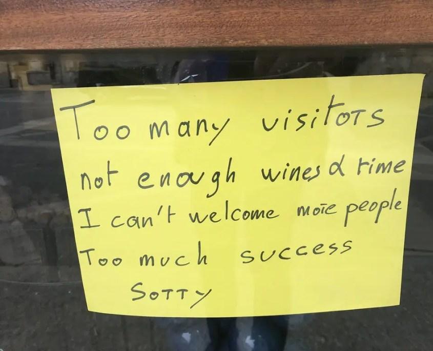 biglietto troppi visitatori