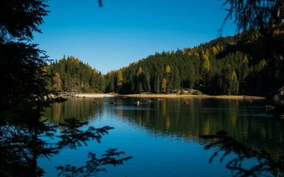Lago di Braies riflessi