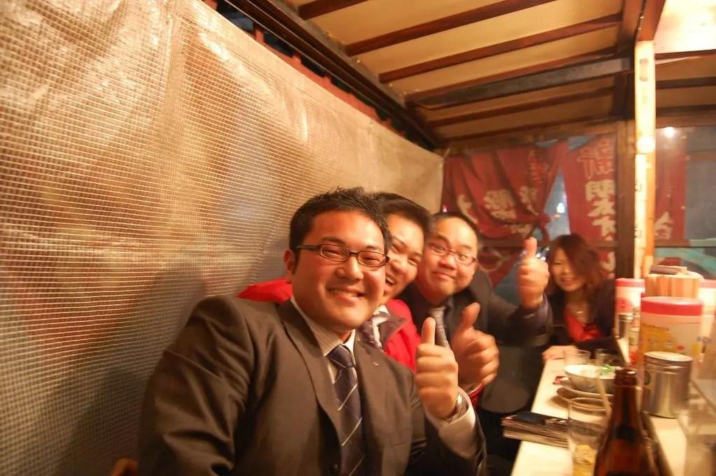 business man giapponesi conosciuti durante il nostro viaggio in Giappone