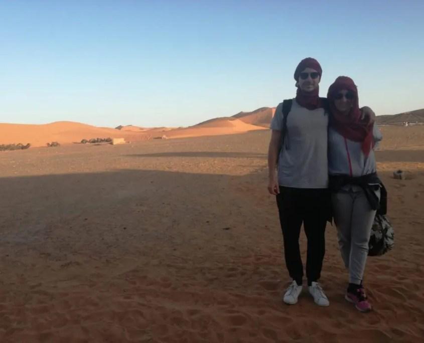 Lorenza e Mattia nel loro viaggio in Marocco