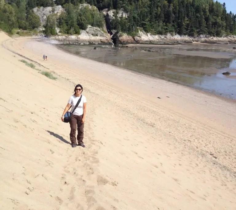 Claudia sulla duna di Tadoussac