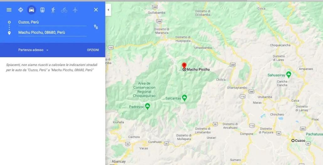 Google Maps Cusco Machu Picchu