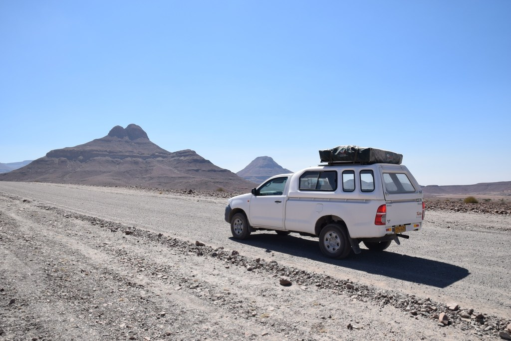 Toyota Hilux 4x4 with rooftop tent