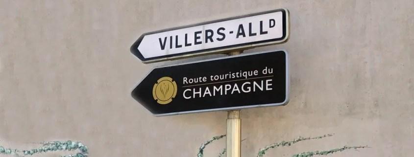 Cartelli stradali Strada dello Champagne