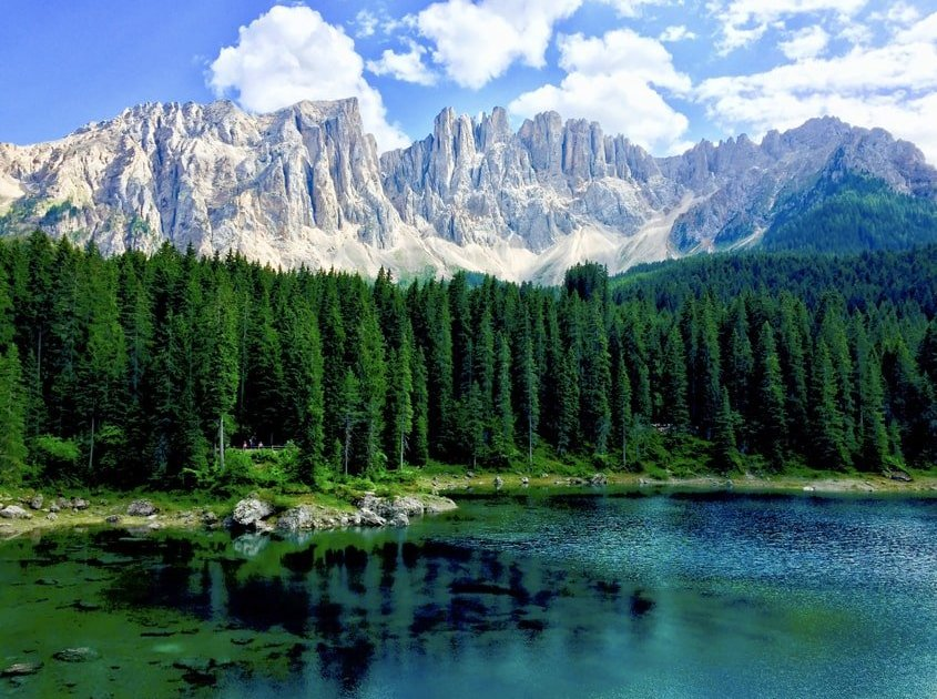 Lago di Carezza prima di Vaia 2018