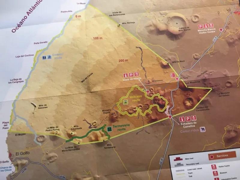 mappa del timanfaya