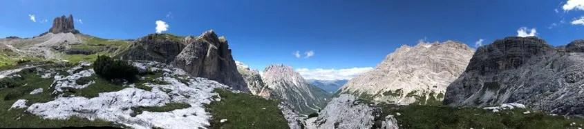 Panoramica a 360 gradi Dolomiti