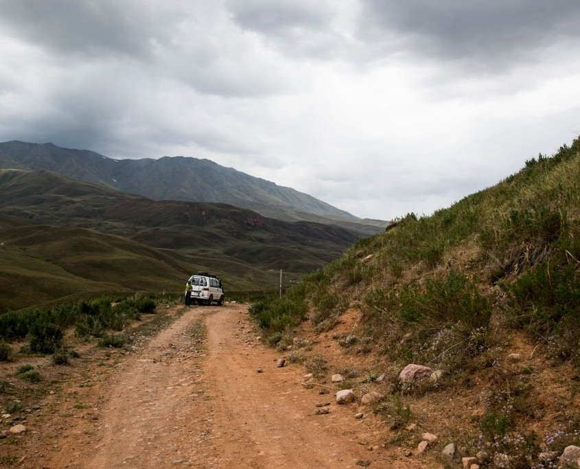 strada rossa Kirghizistan