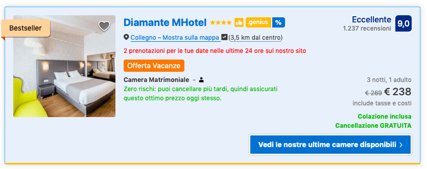 tariffa computer Booking