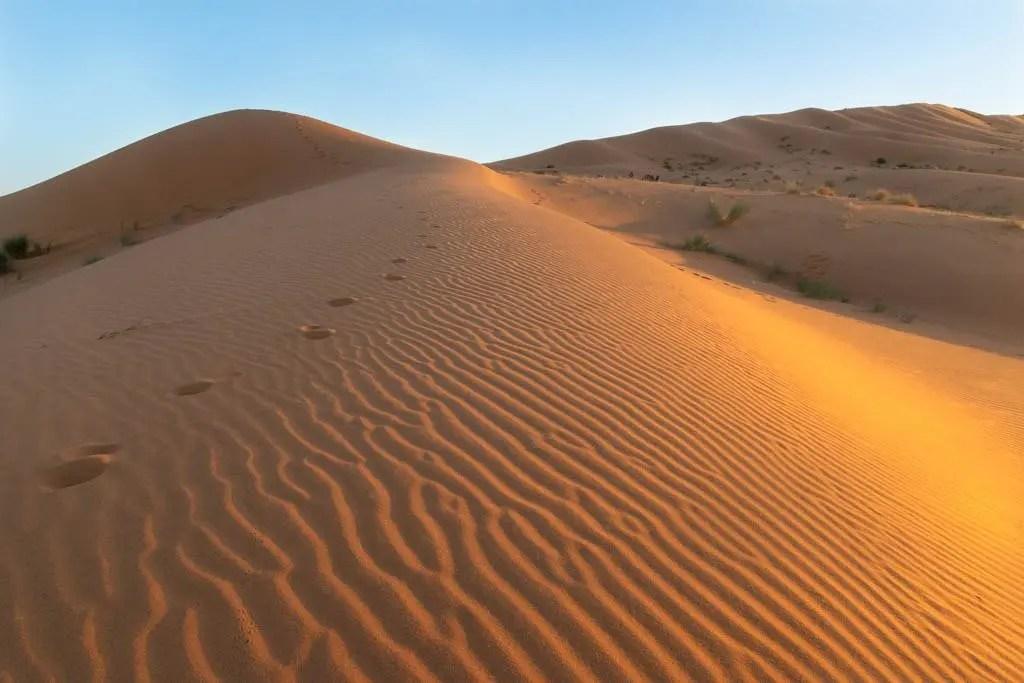 duna al tramonto