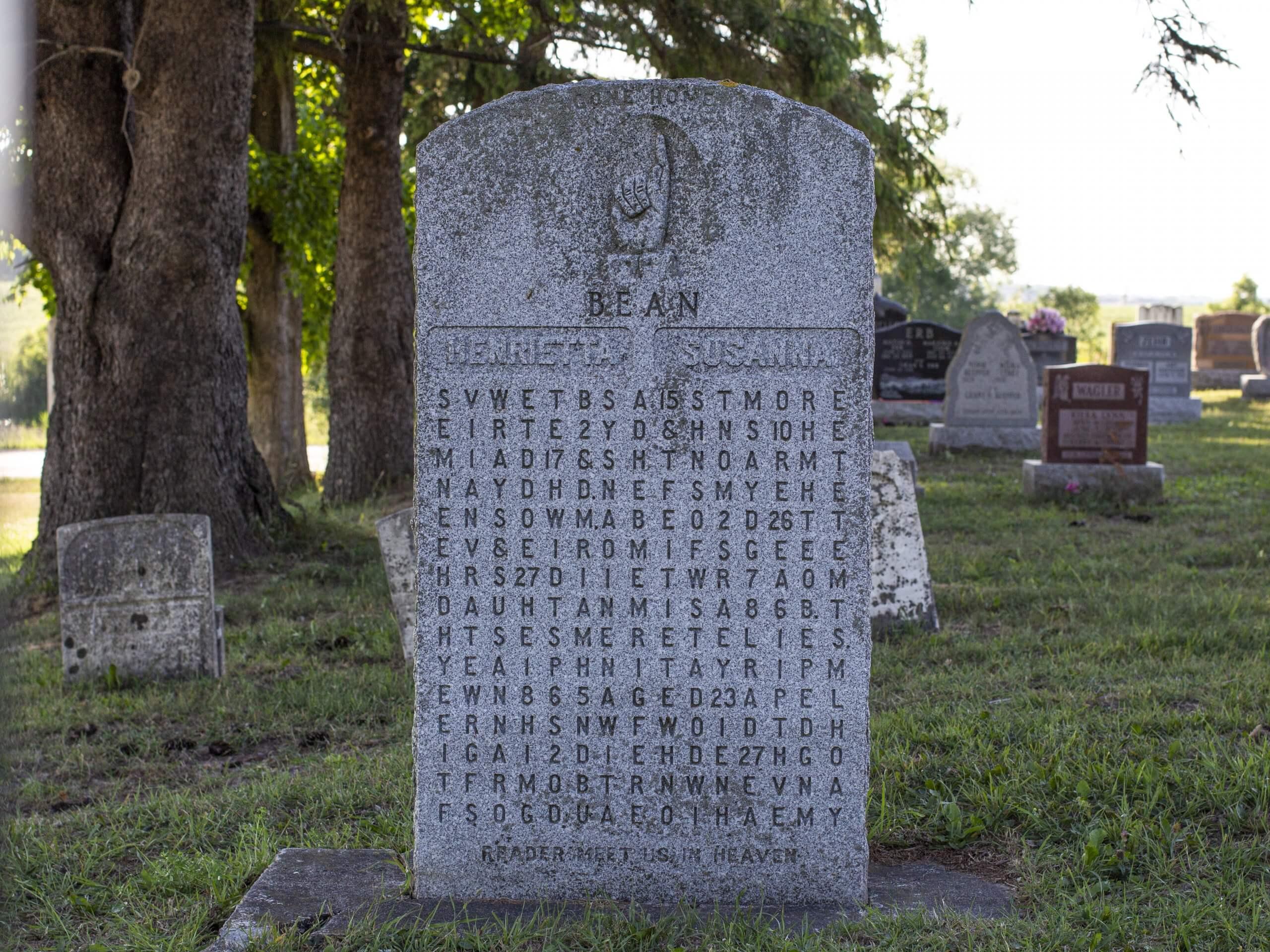 Samuel Bean 1982 Cryptic Gravestone