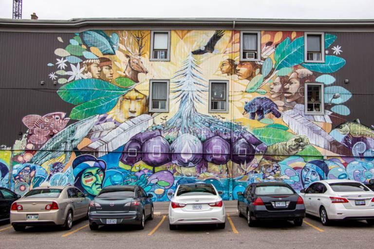 Alapintas Turtle Island Mural in Downtown Kitchener