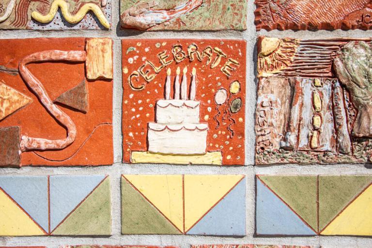 Carol Bradley's Terracotta Tile Project in Kitchener Ontario
