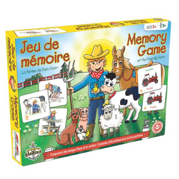 Playing games in other languages is a fun way to learn vocabulary, like this Memory game!