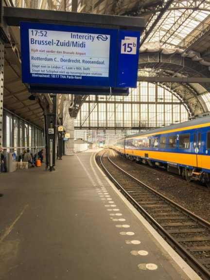 Get on board the train in Brugges, Belgium! Plan a trip as a fun way to learn new languages!