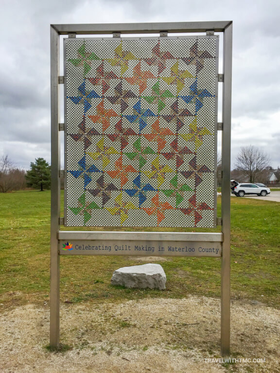 Marble Quilt Community Art in St Jacobs Ontario