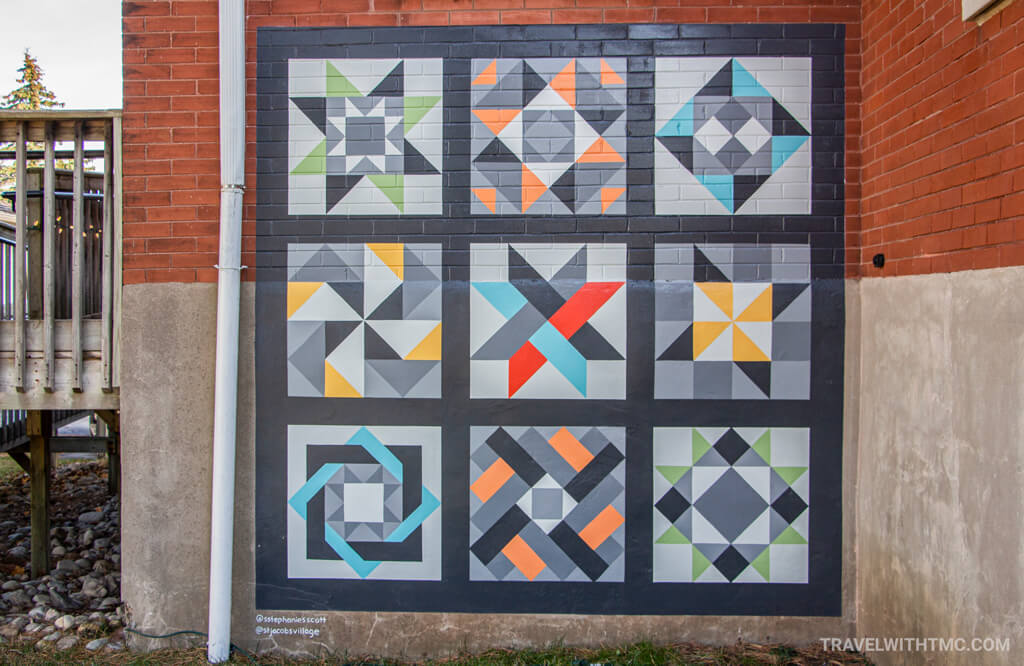 Stephanie Scott's Toy Soup Quilt Mural in St Jacobs, Ontario