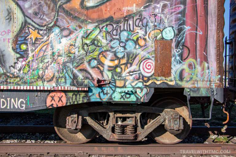 Colourful Railcar in St. Thomas Ontario