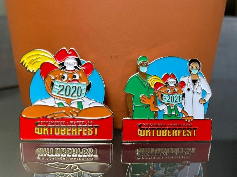 KW Oktoberfest 2021 and 2020 Pins