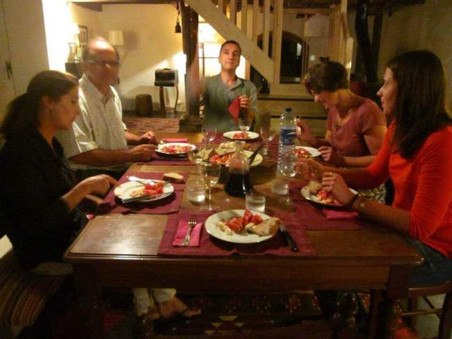 French meal table