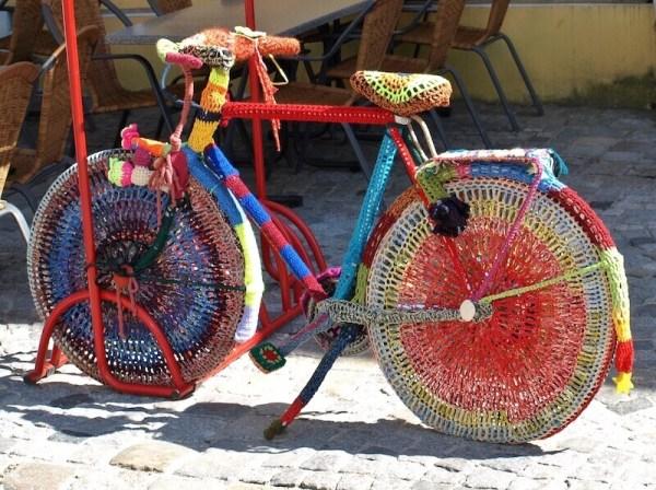 Yarn on bike
