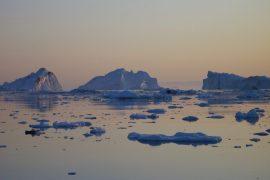 Illulisat: Eisberge zum Mitternachtssonnenuntergang