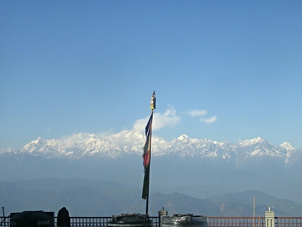 Blick zum Kanchenjunga in Darjeeling