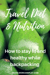 Travel Fitness Part VI: Travel diet and nutrition. How to stay healthy while travelling in Asia. Low carb food and a focus on nutrition can be difficult while backpacking. Read our expert guide for how to stay healthy in Southeast Asia. Whether its to lose weight or maintain a strength training or fitness routine, there's something here for you. Read now or pin for later!
