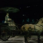In addition to foot soldiers, the terracotta army also included chariots and other mounted warriors.