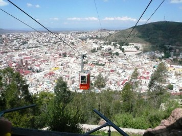 The view of Zacatecas from the nearby silver mines.