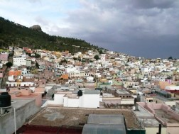 The view of Zacatecas from a rooftop.